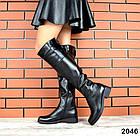 Демисезонные женские сапоги черного цвета, натуральная кожа  37 ПОСЛЕДНИЙ РАЗМЕР, фото 2