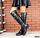 Демисезонные женские сапоги черного цвета, натуральная кожа  37 ПОСЛЕДНИЙ РАЗМЕР, фото 3