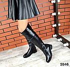 Демисезонные женские сапоги черного цвета, натуральная кожа  37 ПОСЛЕДНИЙ РАЗМЕР, фото 4