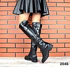 Демисезонные женские сапоги черного цвета, натуральная кожа  37 ПОСЛЕДНИЙ РАЗМЕР, фото 6