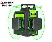Лазерный уровень/лазерный нивелир ЗЕЛЕНЫЙ ЛУЧ 3D Sndway SW-333G