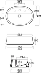 Раковина Simas Sharp SH05 60 см, фото 4