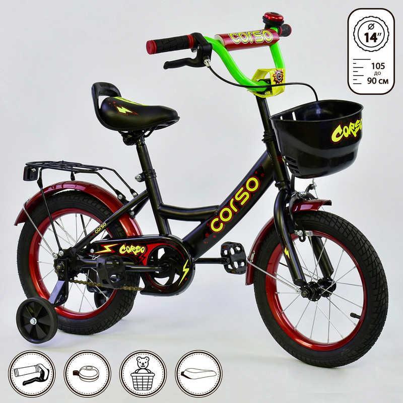 """Велосипед 14"""" дюймов 2-х колёсный G-14370 """"CORSO"""""""