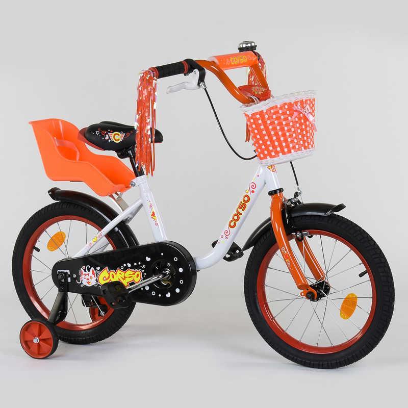 """Велосипед 16"""" дюймов 2-х колёсный 1685 """"CORSO"""""""