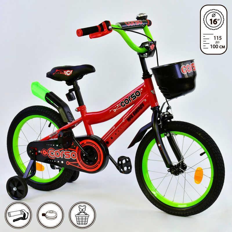 """Велосипед 16"""" дюймов 2-х колёсный R - 16292 """"CORSO"""""""