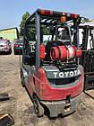 Вилочный газовый погрузчик Toyota, 1.5т,  погрузчик Б/У купить Киев, фото 2