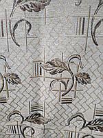 Плед покрывало гобелен с люриксовой нитью размер 175х220 сублимация листок, фото 1