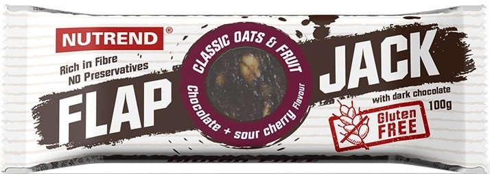 Батончик Nutrend - Flap Jack (Gluten Free) (100 грамм) шоколад с кислой вишней