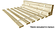Кровать Ацтека LOZ_160 (каркас) белый/белый глянец, фото 3