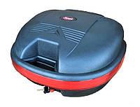 Кофр для мотоцикла (багажник) со спинкой на один шлем матовый