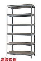 Стеллаж металлический для склада/магазина/дома ЧК-80 2500х920х300, оцинкованный, 6 полок ДСП, до 80 кг/полку