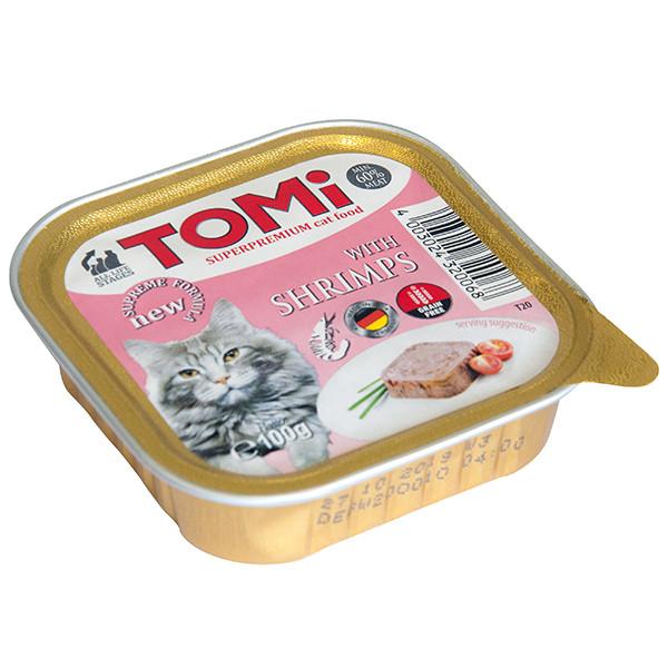 Консервы для кошек TOMi shrimps паштет с креветками 100 г