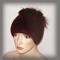 Зимняя меховая шапка из ондатры(рыжая)