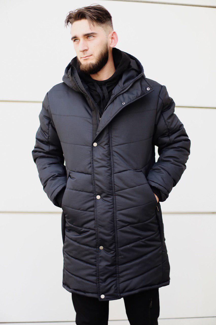Чоловіча зимова парку Mollton black