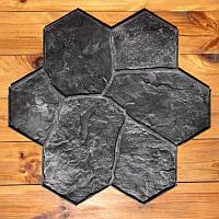 """Полиуретановый штамп для бетона и штукатурки """"Цветок Большой"""" (Бутовый Камень), для пола и дорожек, фото 1"""