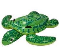 Большая надувная черепаха Intex 56524, детский плотик, 191*170 см, из ПВХ