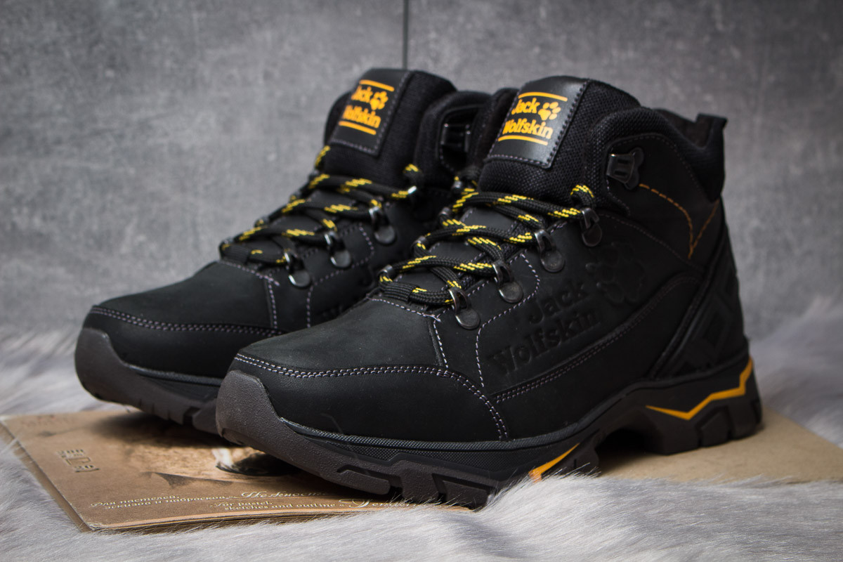 Зимние ботинки  на меху Jack Wolfskin, черные (30941) размеры в наличии ► [  41 42  ]