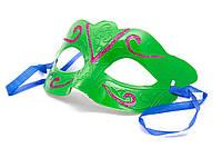 Маска карнавальная, 20*9 см, зеленая, арт. 462001-6