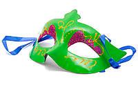 Карнавальная маска, 20*9 см, в полибэге, зеленая, арт. 462025-4