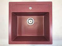Красная врезная гранитная мойка для кухни AVANTI 515