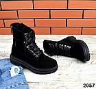 Женские демисезонные ботинки в черном цвете из натуральной замши 39 ПОСЛЕДНИЙ РАЗМЕР, фото 2