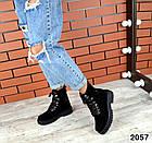 Женские демисезонные ботинки в черном цвете из натуральной замши 39 ПОСЛЕДНИЙ РАЗМЕР, фото 3
