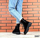 Женские демисезонные ботинки в черном цвете из натуральной замши 39 ПОСЛЕДНИЙ РАЗМЕР, фото 6