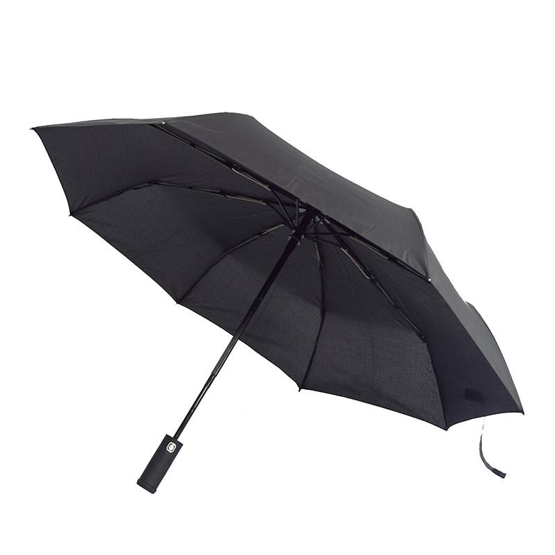 Зонт складной с фонариком. Автомат. LIGHT. 4 цвета