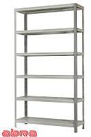 Стеллаж металлический для склада/магазина/дома ЧК-80 2500х920х460, покрашенный, 6 полок металл, до 80 кг/полку