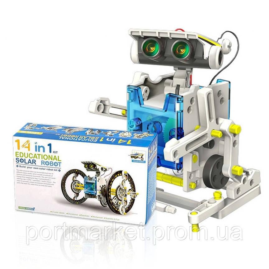 Робот-конструктор 14 в 1 на солнечной батарее, Solar Robot