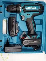Аккумуляторный шуруповерт Makita DF457DWE / 18V Li-ion / 17 режимов вращения
