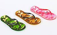 Вьетнамки пляжные женские (р-р 9,5-11, RUS-36-39, резина, EVA, цвета в ассортименте)