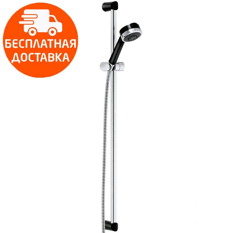 Душевой гарнитур 3S со штангой длина 900 мм Kludi Zenta 608408600 черный/хром