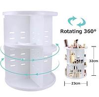 Вращающийся органайзер для косметики ROTATION COSMETIC ORGANIZER 360(белый)