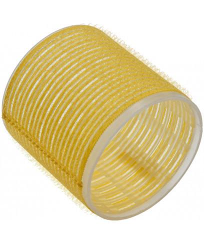 Бигуди Sibel на липучке жёлтые 66 мм