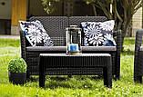 Набір садових меблів Tarifa With Sofa Table з штучного ротанга ( Allibert by Keter ), фото 6