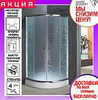 Душевая кабина полукруглая 100х100 см с поддоном Santeh 1001 T Tatiana двери раздвижные