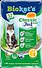 Біокетс Класик 3 в 1 Biokats CLASSIC 3 in1 бентонітовий паповнювач для котів 10л