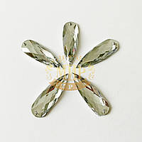 Нашивные Капли (синтет.стекло), цвет Crystal, 10х30мм, 1шт