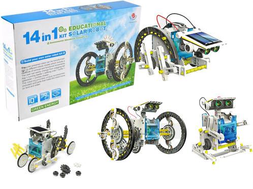 Робот-конструктор 14 в 1 на солнечной батарее Solar Robot