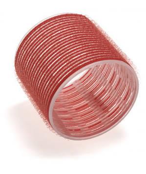 Бігуді Sibel на липучці 70 мм червоні