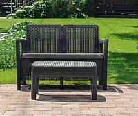 Набор садовой мебели Tarifa Sofa With Table Graphite ( графит ) из искусственного ротанга, фото 1