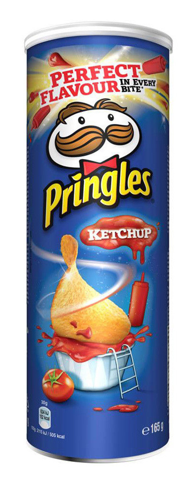 Чіпси Pringles Ketchup, кетчуп, 165г, 19 шт/ящ