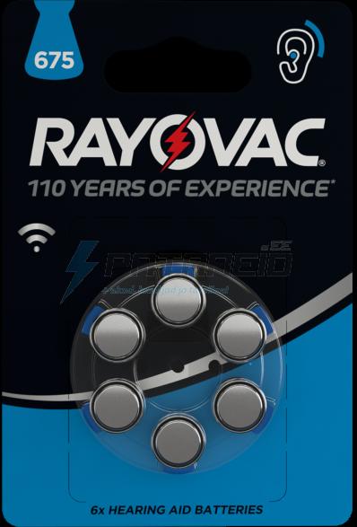 Батарейка для слухового аппарата Rayovac 675/PR44 6шт. 1.45V