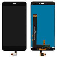 Дисплейный модуль (дисплей и сенсор) для Xiaomi Redmi Note 4, черный, оригинал, MediaTek