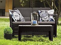 Набор садовой мебели Tarifa Sofa With Table Brown ( коричневый ) из искусственного ротанга, фото 1