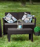 Набор садовой мебели Tarifa Sofa With Table Brown ( коричневый ) из искусственного ротанга (Allibert by Keter), фото 6