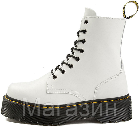 Женские ботинки Dr. Martens Jadon White Доктор Мартинс Жадон белые БЕЗ МЕХА, фото 2