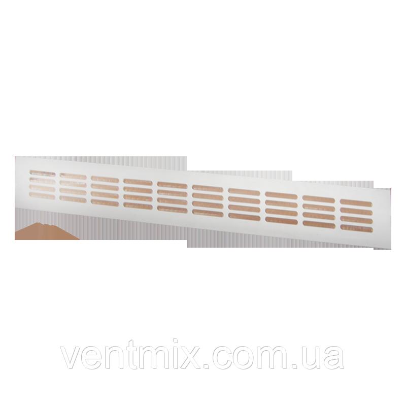 Вентиляционная решетка металлическа МВМА 500х80 (белая)