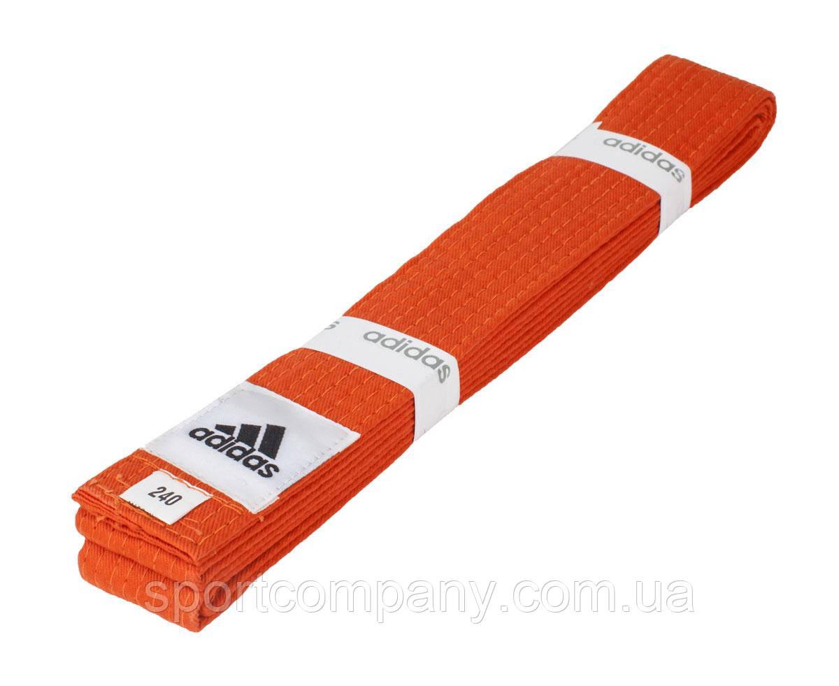 Пояс для кимоно Adidas Club оранжевый